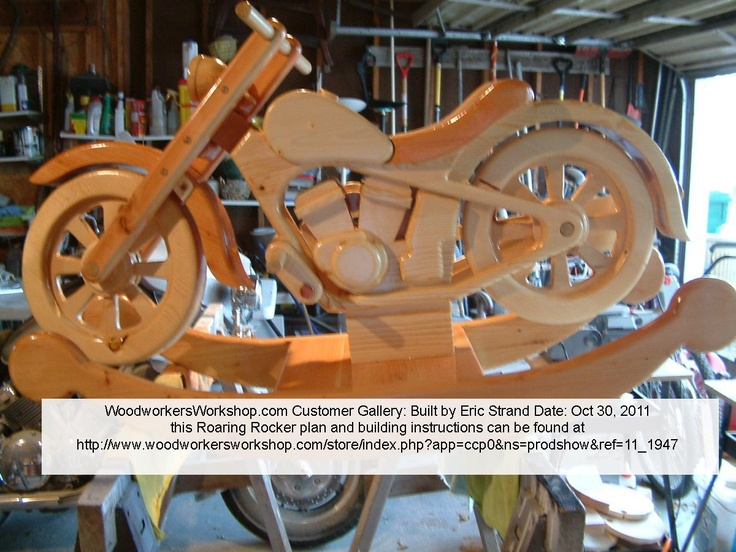 17 best images about customer built projects at for Woodworking plan for motorcycle rocker toy