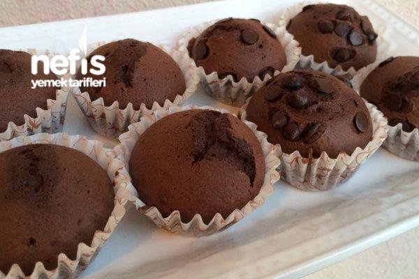 3 Malzemeli Enfes Muffin3yumurta-1pkt kakaolu puding-4-5 kaşık un-1.5ç.kaşığı k.t