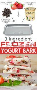 3 Ingredient Frozen Yogurt Bark -- an easy and super delish healthy treat!