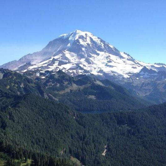 Mt. Rainier, a setting for forthcoming novel WILDERNESS OF MIRRORS