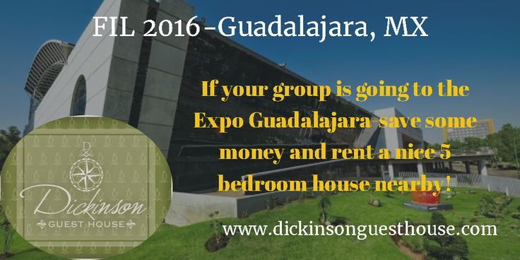 If your group is going to the Expo Guadalajara-save some money and rent a nice 5 bedroom house nearby!