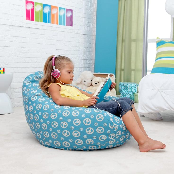 Medium Twill Dorm Tear Drop Bean Bag Chair Part 46