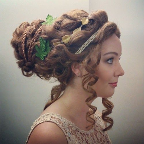 hellenic updo with ringlets easy