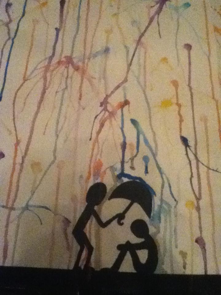 Waterverf schilderij zelfgemaakt