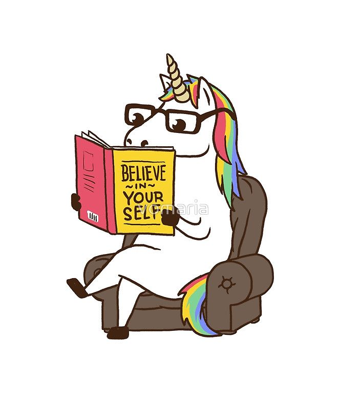 Unicorn Believe in Yourself Magical Fabulous by vomaria