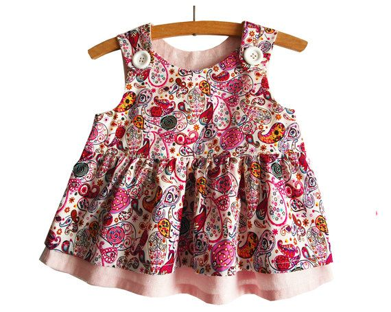 Romper Dress Pattern/ Toddler dress pattern/ Girl's Dress Pattern/ Baby dress pattern/ Childrens Sewing Pattern.Size 0-24 months