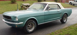 Purchase 1966 Mustang parts and make progress on my restoration.