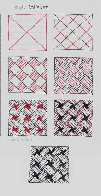 "Life Imitates Doodles: My tangle pattern ""Wisket"""