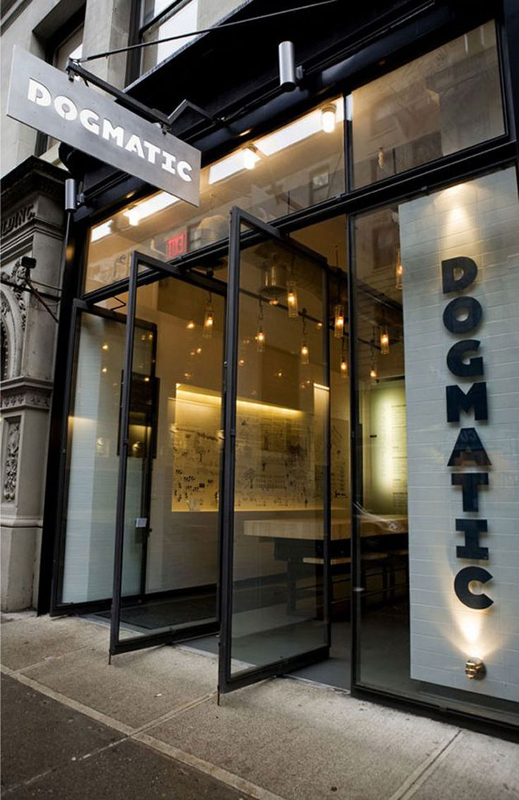 Dogmatic modern restaurant design on for Restaurant window design