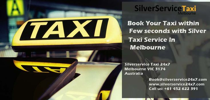 Want to Book a #Taxi in #Melbourne, Book your #taxi within few seconds with #Silver #Taxi #Service in #Melbourne by simple steps from Book@silverservice24x7.com for more detail visit at www.silverservice24x7.com and call us at +61 452 622 391