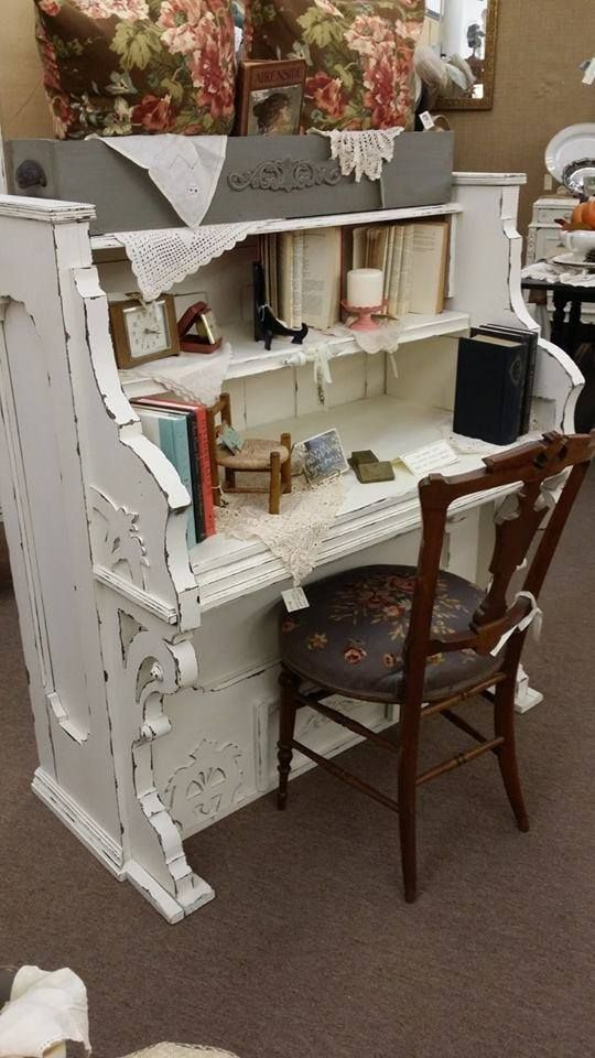 I absolutely adore this repurposed old piano!