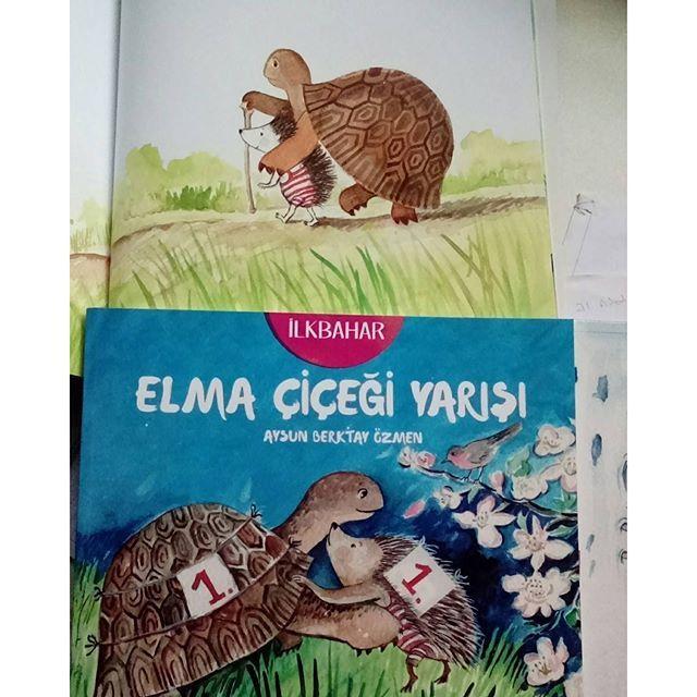 İlkbahar _Elma çiçeği yarışı #aysunberktayozmen #mevsimler #altınkitaplar #dostluk #kardeşlik #animalstory #childrenbook #picturebook #illustrasyon #artdrawing #artist