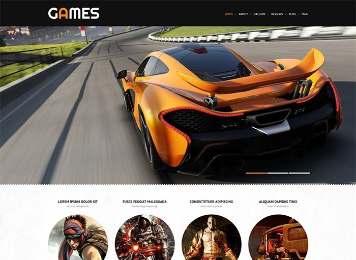 Games WordPress Template covers any game portal project online