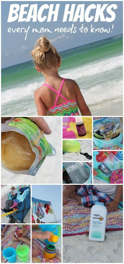 Beach Hacks for Moms! Easy DIY Tips for Making the Beach an Easy Vacation with your family!: