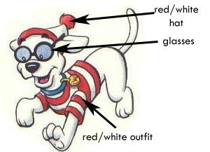 Woof costume from Where's Wally