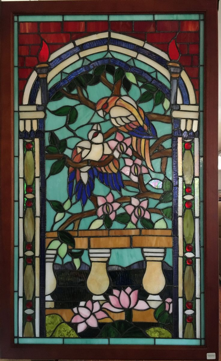 Franklin art glass studios inc clear cotswold glass 3 320 - Create A Beautiful Focal Point In Your Home With This Beautiful Stained Glass Window This