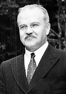 """Vyacheslav Molotov (USSR), after whom the """"cocktail"""" was named."""