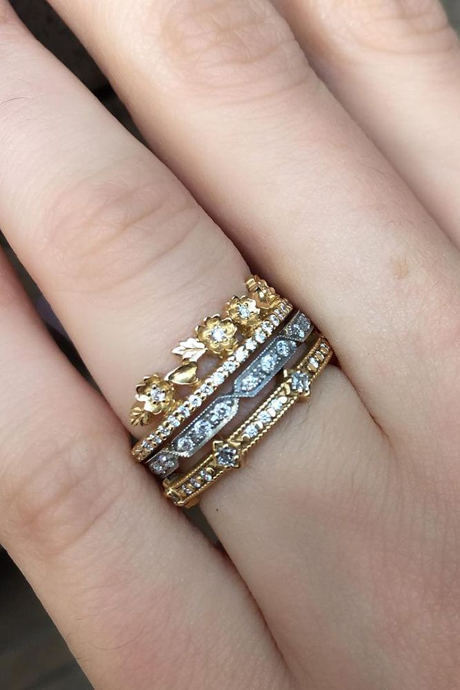 0cae871480e25 30 Best Stackable Wedding Rings Set – More Rings More Shine   Ring ...
