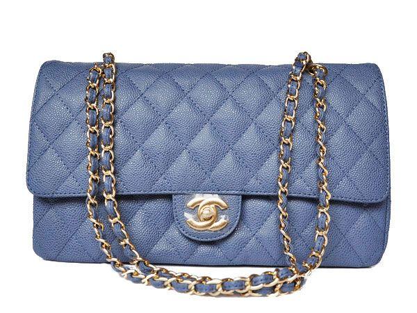 Chanel 2.55 calfskin leather Blue 1113 AKU