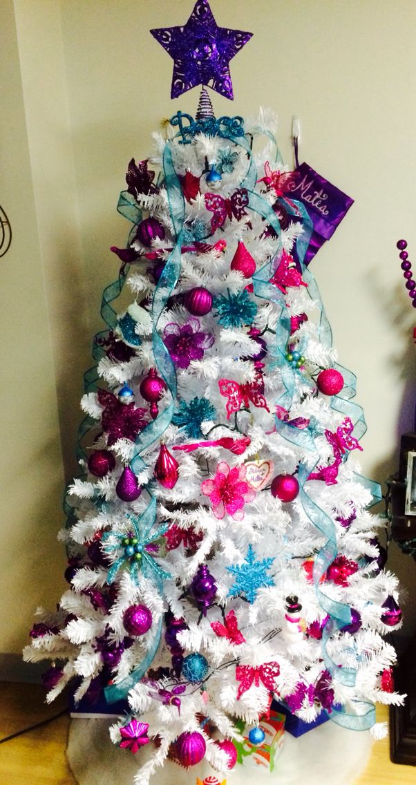 Pink Purple And Teal Christmas Tree Excited Got Bigger This Year