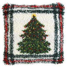 Christmas Tree Pillow Latch Hook Rug Kit