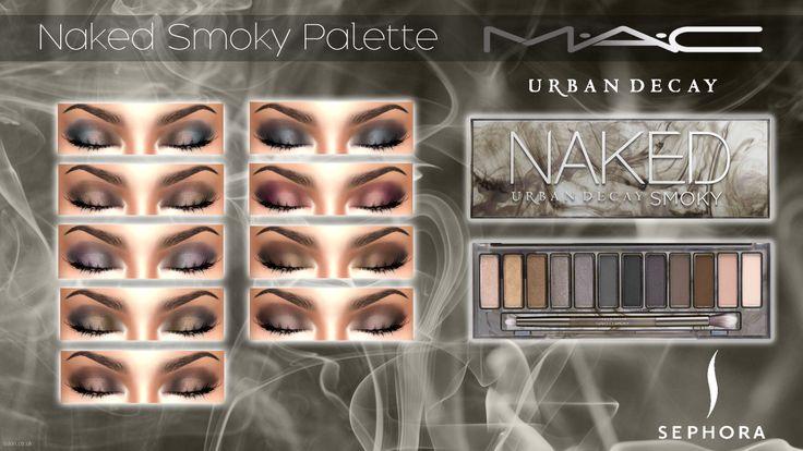 "Naked ""Smoky"" Palette by MAC ""12 Smoky shades | 9 Smoky Looks | 18 Swatches (Each shade has a heavier smoky look alternative) "" Mediafire SimFileShare Recommended MAC Eyliners: Eyeliner 101 | Eyeliner..."