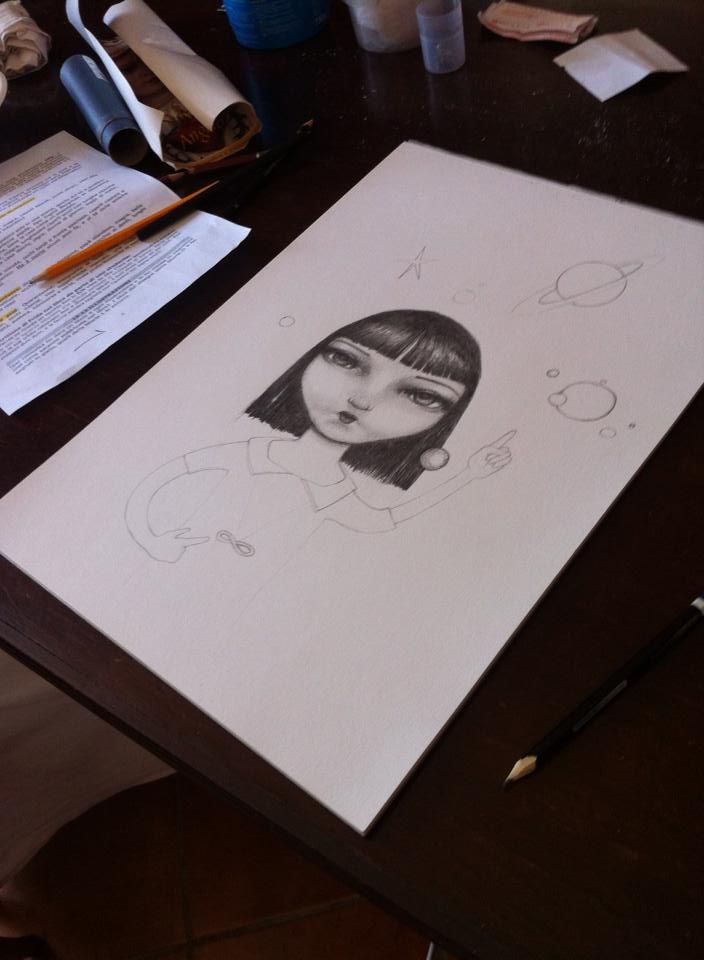Image 4.1 The preparation of Frida and the Infinite.
