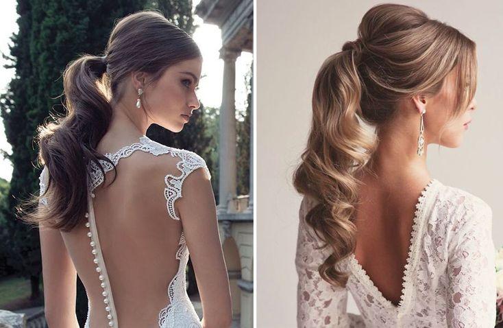 Rabo de cavalo para noivas As Melhores Amigas da Noiva: 10 penteados de noiva com aspecto bagunçado
