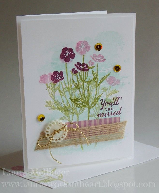 Here's a Retirement card CASE from the catty using Wild About Flowers. See more details on my blog:) http://laurasworksofheart.blogspot.com/2016/07/wild-about-flowers-card.html