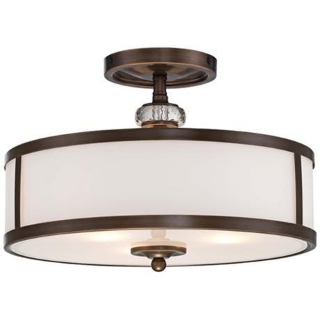 "Thorndale 15"" Wide Dark Noble Bronze Ceiling Light -"