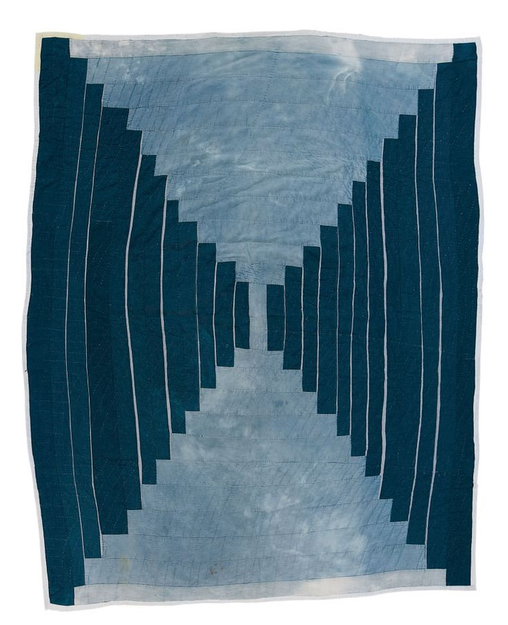 Jeans Log Cabin, Gee's Bend quilt inspiration posted by Louise Silk at bubbewisdom