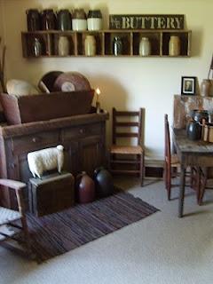 prim decor...: Rag Rugs, Boxes Shelves, Country Primitive, Prime Decor, Primitives Antiques Decorating, Primitive Home, Wall Shelves, Wood Boxes, Primitive Decor