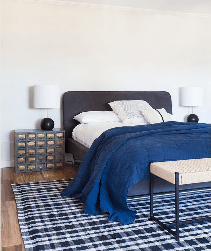 bedroom sweat modern bed home office room. Navy Neutral Guest Bedroom Via Emily Henderson Featuring Stand Lamps From Rejuvenation Sweat Modern Bed Home Office Room W