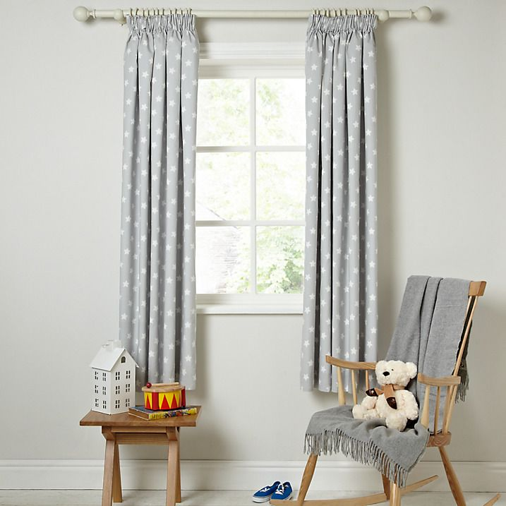 buy little home at john lewis star pencil pleat blackout lined curtains w165 x drop137cm