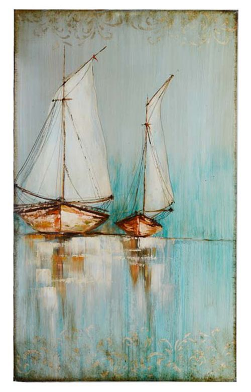 Handmade Sailing Boats Paintings (LH-048000)