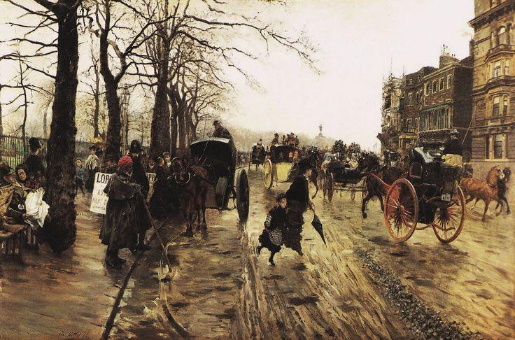 Piccadilly, 1875, Giuseppe de Nittis. Italian (1846 - 1884)