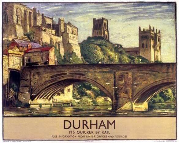 Vintage Durham Railway Poster - available to purchase at our online shop!