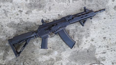 """Gewehr Werks 5.45x39 AK-74 Rifle - A virgin AK-105 barrel assembly was used along with a virgin AK74 parts kit. - TWS Forend and Dust Cover - RD AKM4 adapter - Magpul CTR with 1/4"""" Cheek Riser - Magpul MOE AK Grip - Magpul AFG - Tantal Brake permanently attached - Troy Micro flip-up sights"""