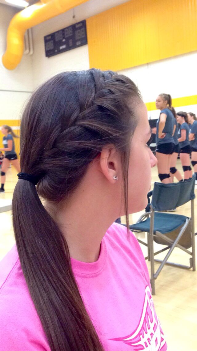 Cute volleyball hair