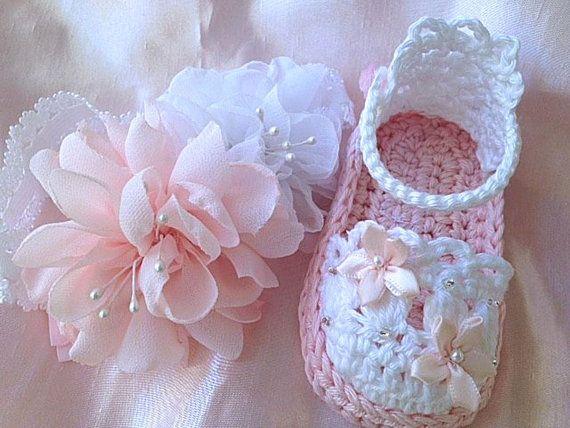 Девочка светло-розовые сандалии детские хлопок по TippyToesBabyDesigns