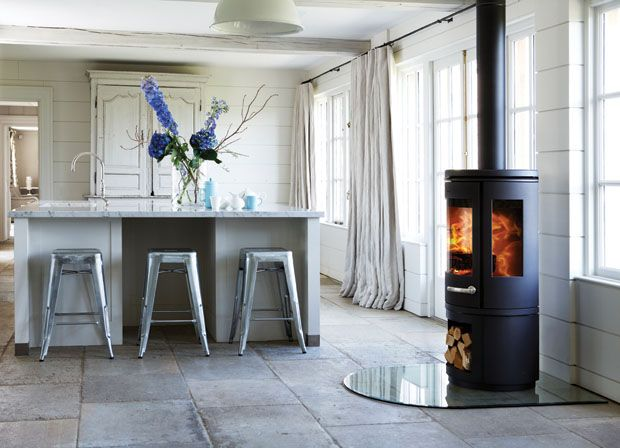 The Morso 7943 Woodburning Stove is Ideal for any Stylish Living Room.
