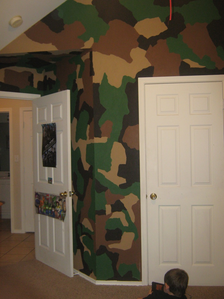 25 great ideas about camo boys rooms on pinterest camo for Camo mural wall