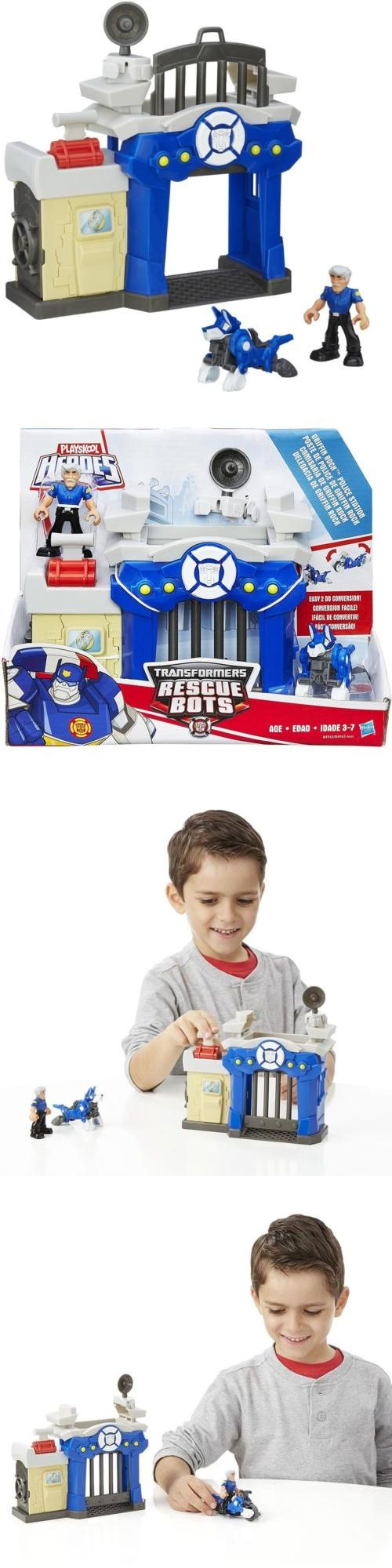 Playskool 2576: New Playskool Heroes Transformers Police Station Rescue Bots Griffin Rock Growl -> BUY IT NOW ONLY: $30.66 on eBay!