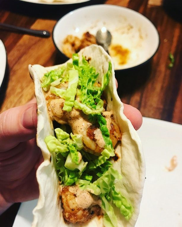 You'll need 3 things for this, Claude's Fajita and Great American Cajun Seasoning for the Shrimp! And your own Chipotle Mayo recipe.