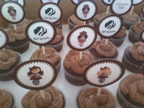 Girl Scouts Cupcake Toppers Printable | coloring pages and ...