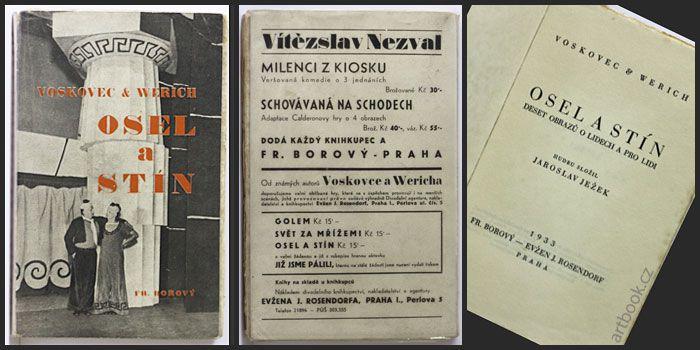 VOSKOVEC & WERICH: OSEL A STÍN. Antikvariát PRAŽSKÝ ALMANACH www.artbook.cz -  aktuální nabídka