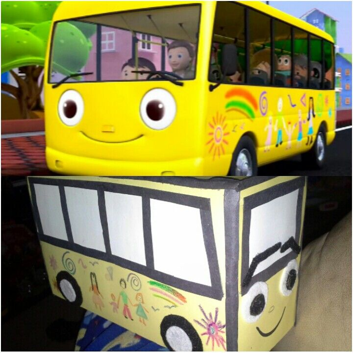 Little baby bum the wheels on the bus... center peace for a 1 year old Boy.