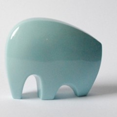 Minimalist Elephant Sculpture