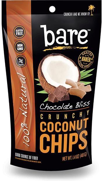 Bare Fruit, Crunchy Coconut Chips, Chocolate Bliss, 1.4 oz (40 g) - iHerb.com