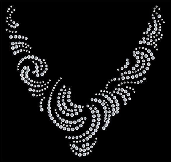 Sue's Sparklers: Crystal Swirl Neckline